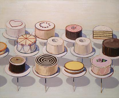 Cakes, 1963 Waybe Thiebaud