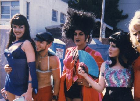 Jordan L' Moore, Scooter, Juanita, Ana &Portia. Folsom St. Fair, Circa 1997