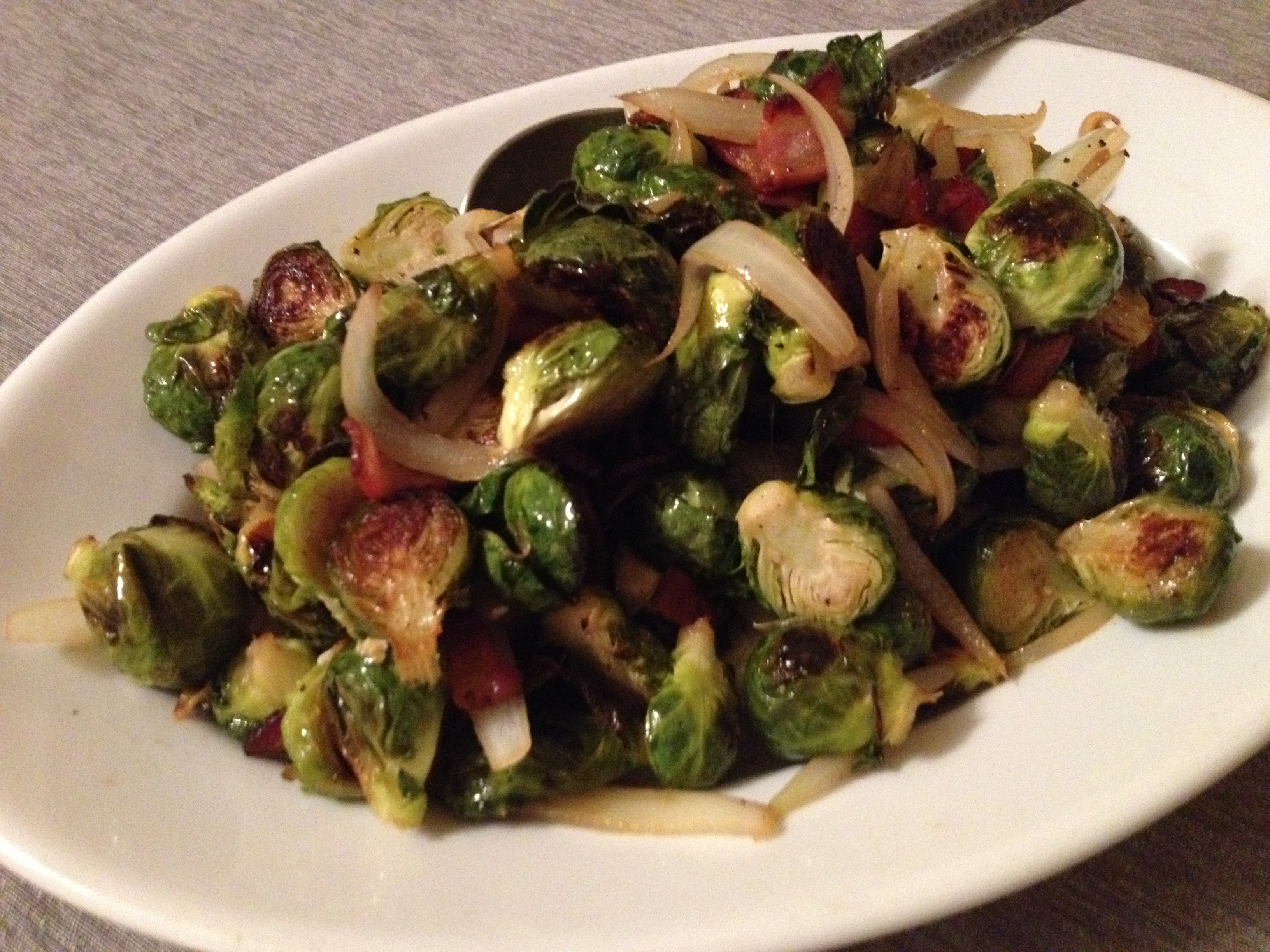 Roasted Brussels Sprouts with Bacon | Juanita Eats Out