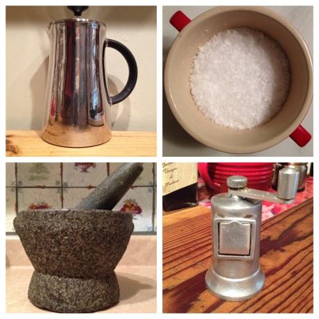 My four kitchen treasures.