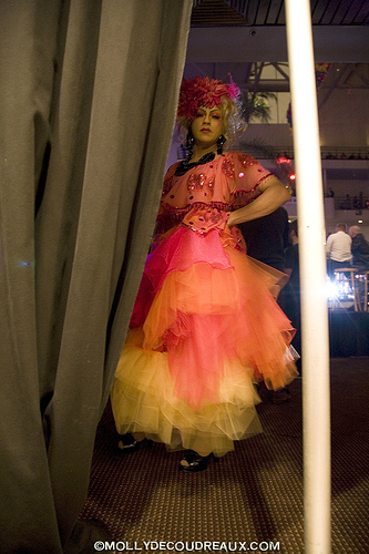 Juanita in Mr. David Couture backstage at the Miss Trannyshack Pageant, 2008