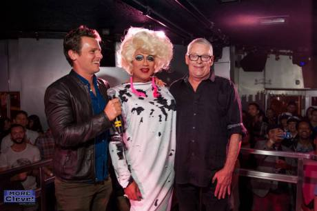 Jonathan Groff, Juanita MORE! and Cleve Jones Image / Georg Lester Photography