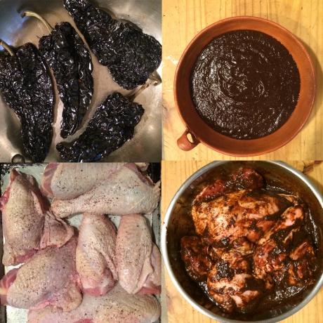 Turkey and chili paste prep