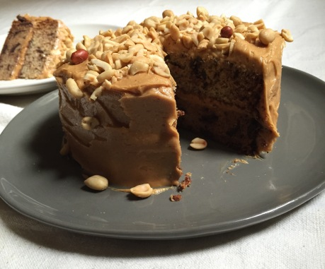 Chocolate Banana Cake with Peanut Butter Frosting