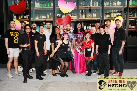 The HECHO Valentine Dinner staff!
